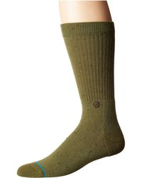 Stance - Icon 2 (olive) Men's Crew Cut Socks Shoes - Lyst