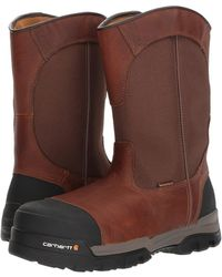 Carhartt - Ground Force 10 Comp Toe Pull-on Work Boot (brown Leather) Men's Work Boots - Lyst