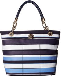 Tommy Hilfiger - Signature Canvas Top Zip Tote - Lyst