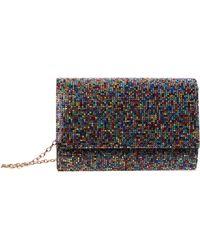 Jessica Mcclintock Alexis Sparkle Clutch Clutch Handbags - Red