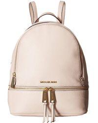 Michael Kors - Rhea Zip Medium Backpack Soft Pink - Lyst