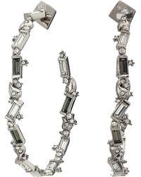 Alexis Bittar - Crystal Baguette Hoop Earrings (rhodium/ruthenium Accents) Earring - Lyst