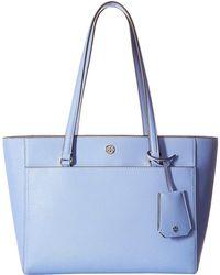 Tory Burch - Robinson Small Tote (bow Blue) Tote Handbags - Lyst