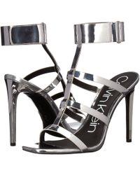 Calvin Klein - Dolcita Heeled Sandal - Lyst