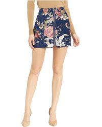 Jack BB Dakota - Rain On My Brocade Floral Skirt (dark Blue) Women's Skirt - Lyst