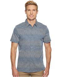 Perry Ellis - Short Sleeve Scribble Print Shirt - Lyst