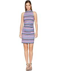 Nicole Miller - Mock Neck Shirred Dress (multicolored) Women's Dress - Lyst