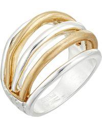 Robert Lee Morris Two-tone Multi Row Ring - Metallic