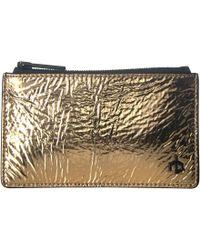 Rag & Bone - Zip Card Case (navy Grommet) Wallet Handbags - Lyst