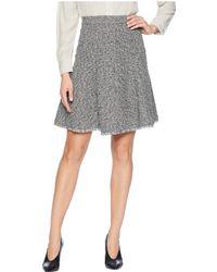 Ellen Tracy - Seamed Flare Skirt (black/white Combo) Women's Skirt - Lyst