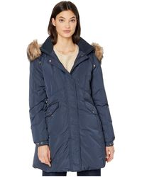 Kate Spade Faux Fur Collar Parka - Blue