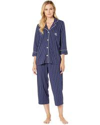 Lauren by Ralph Lauren Plus Windsor Pajama Set - Blue