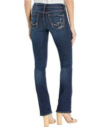 Silver Jeans Co. Elyse Mid-rise Curvy Fit Slim Bootcut Jeans In Indigo L03601sdk470 - Blue