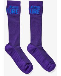 Versace Jeans Couture Intarsia Logo Socks - Purple