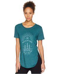 Tentree - Adventure Begins Tee (meteorite) Women's T Shirt - Lyst