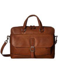 Frye - Oliver 2 Handle (black Soft Tumbled Full Grain) Top-handle Handbags - Lyst
