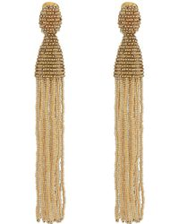Oscar de la Renta - Long Beaded Tassel C Earrings - Lyst