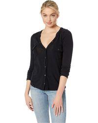 Free People - Starlight Henley (black) Women's Clothing - Lyst