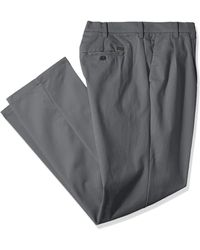 Izod Big And Tall Performance Stretch Pleated Pant - Gray