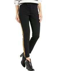 Lauren by Ralph Lauren Metallic-trim Ponte Pants - Black