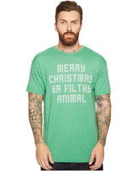 4b8f8f502abd2f The Original Retro Brand - Merry Christmas Ya Filthy Animal Short Sleeve  Heathered T-shirt