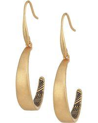 The Sak - C Hoop Drop Earrings - Lyst