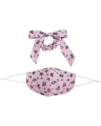 Free People Mask Bow Floral Pack - Purple
