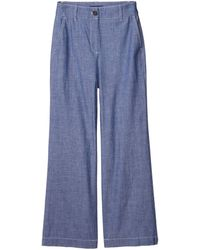 J.Crew Ryan Pants In Washed Chambray Casual Pants - Blue