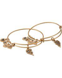 ALEX AND ANI - Charity By Design, Best Friends Set Of 2 Bracelet (rafaelian Gold) Bracelet - Lyst