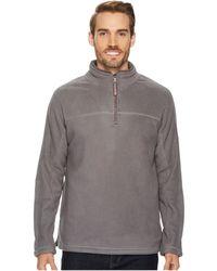 True Grit Bonded Polar Fleece And Sherpa 1/4 Zip Pullover - Gray