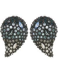Alexis Bittar - Crystal Encrusted Ombre Paisley Post Earrings (ruthenium) Earring - Lyst