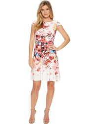 Adrianna Papell - Spring In Bloom Printed Fit Flare (ivory Multi) Women's Dress - Lyst