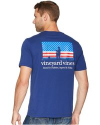 Vineyard Vines - Us Tradition Pocket T-shirt (blue Depth) Men's T Shirt - Lyst