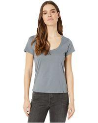 Alternative Apparel 100% Organic Cotton Short Sleeve Scoop Tee - Blue