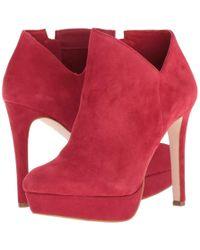 795e16886fdf Jessica Simpson - Rivera (maraschino Lux Kid Suede) Women s Dress Boots -  Lyst