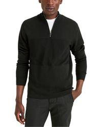 Dockers Regular Fit 1/4 Zip Sweater - Blue