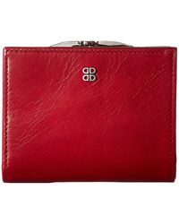 Bosca Old Leather Frame Petite French Purse - Red