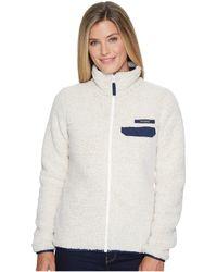 Columbia - Mountain Side Heavyweight Fleece Full (flint Grey/light Bisque) Women's Fleece - Lyst