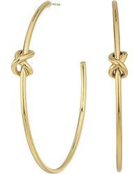 Lauren by Ralph Lauren   Classic Metal Knots Large Hoop Earrings   Lyst