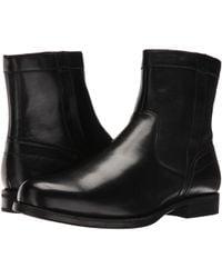 Florsheim Midtown Plain Toe Zip Boot - Black