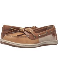 Sperry Top-Sider - Barrelfish (linen/gold) Women's Lace Up Moc Toe Shoes - Lyst