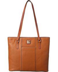 Dooney & Bourke - Lexington Shopper (caramel) Tote Handbags - Lyst