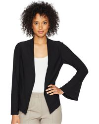 Adrianna Papell - Crepe Knit Jacket (black) Women's Coat - Lyst
