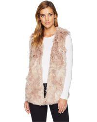 Dylan By True Grit - Melange Long Fur Vest With Heather Knit Lining (natural) Women's Vest - Lyst