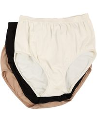 Jockey - Comfies Micro Classic Fit Brief (ivory/black/light) Women's Underwear - Lyst