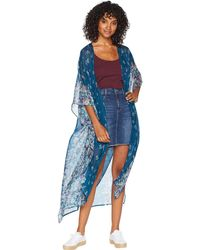 BCBGeneration - Wildflower Duster (teal Multi) Women's Clothing - Lyst