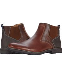 Nunn Bush Fuse Plain Toe Chelsea Boot - Brown