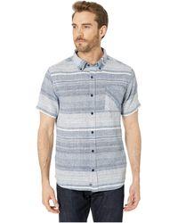 United By Blue Ridgerunner Short Sleeve Stripe Button Down - Blue