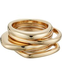 French Connection - Four-piece Ring Set (gold) Ring - Lyst