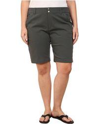 b5033c2e64c Columbia - Plus Size Saturday Trailtm Long Short (india Ink) Women s Shorts  - Lyst